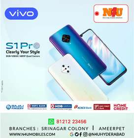 Vivo S1 pro with 8gb ram now available 0% interest emi at N4U mobiles