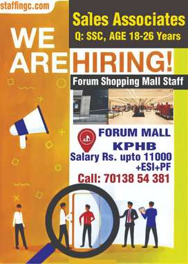 WE ARE HIRING FOR STAFF EMPLOYEES