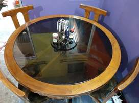 Dining table with Chair( Sagun Wood )