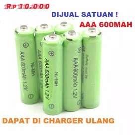 Baterai Yang Bisa Diisi Ulang Battery Batre Charge AAA A3 Rechargeable