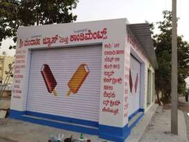 New commercial shops for rent on main road in sir M V Layout 4th block