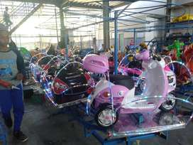 wahana kereta mini panggung odong odong mobil motor sport KOMPLIT