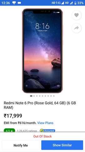 Xiaomi Redmi Note 6 Pro Rose Gold 4/64