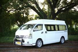 Toyota Commuter GL luxury for rent with driver only