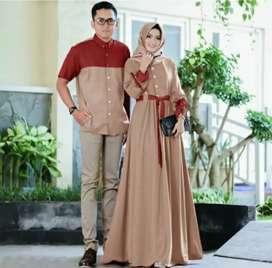 Baju gamis pasangan / couple / kapel muslim harga grosir