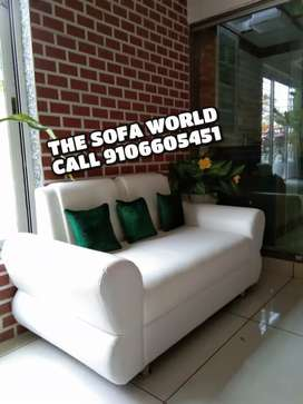 New white leather premium 2 seater sofa available
