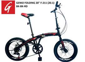 Kami menjual sepeda lipat Genio f211 ukuran 20