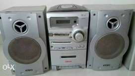 Akai Three in one home theatre, with Amplifier bass booster,