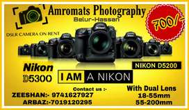 All Type. Of DSLR camera On Rent