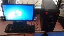 """Core2duo 4gb ram 250gb hdd 16""""lcd keyboard mouse rs.5500"""