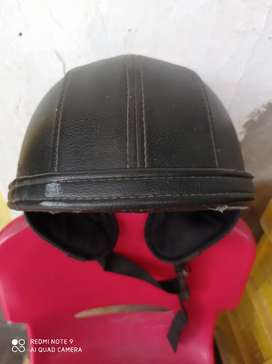 Helm Retro-Open Face-Kulit