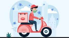 Bikers and cyclist hiring for food delivery boy