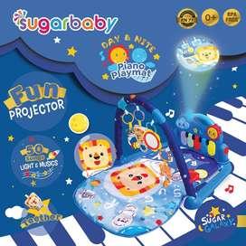 playmat piano dengan vaiasi musik banyak dan fun proyektor