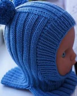 Handmade cap and neck warmer for kids