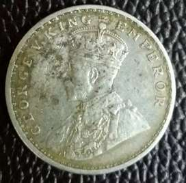 sell rear one rupee india 1913 orignal silver coin