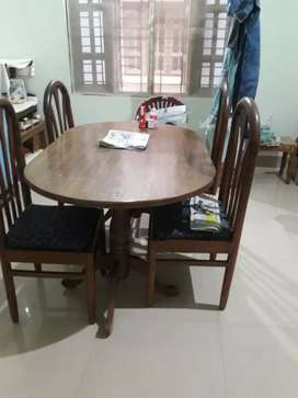 Teak wood Sofa, 2 dining table set,sofa cum bed