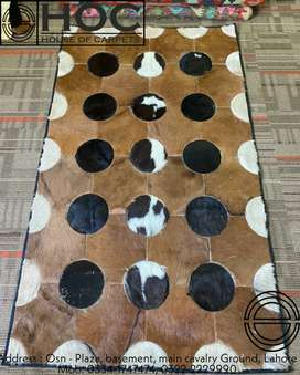 Pure cow leather, rugs center piece