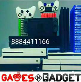 All types of gaming console with 1yr warranty with games
