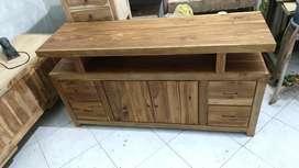 meja tv bahan kayu jati tua