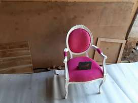 Sofa 1 dudukan shabby pink