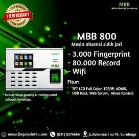 Fingerprint MBB 800 Absensi Sidik Jari Scan Finger TCP IP Akses Kontro