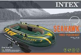 INFLATABLE INTEX SEHAWK 3 FOR 3 PERSON WITH OARS PUMP IN PAKISTAN