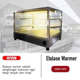 Showcase / Etalase Warmer Fried Chicken Hemat Listrik