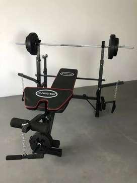 Bench Press Set Plus Dumbell 40 kg, Baru Siap Kirim COD