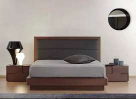 Flory bed with two side table Available in low price