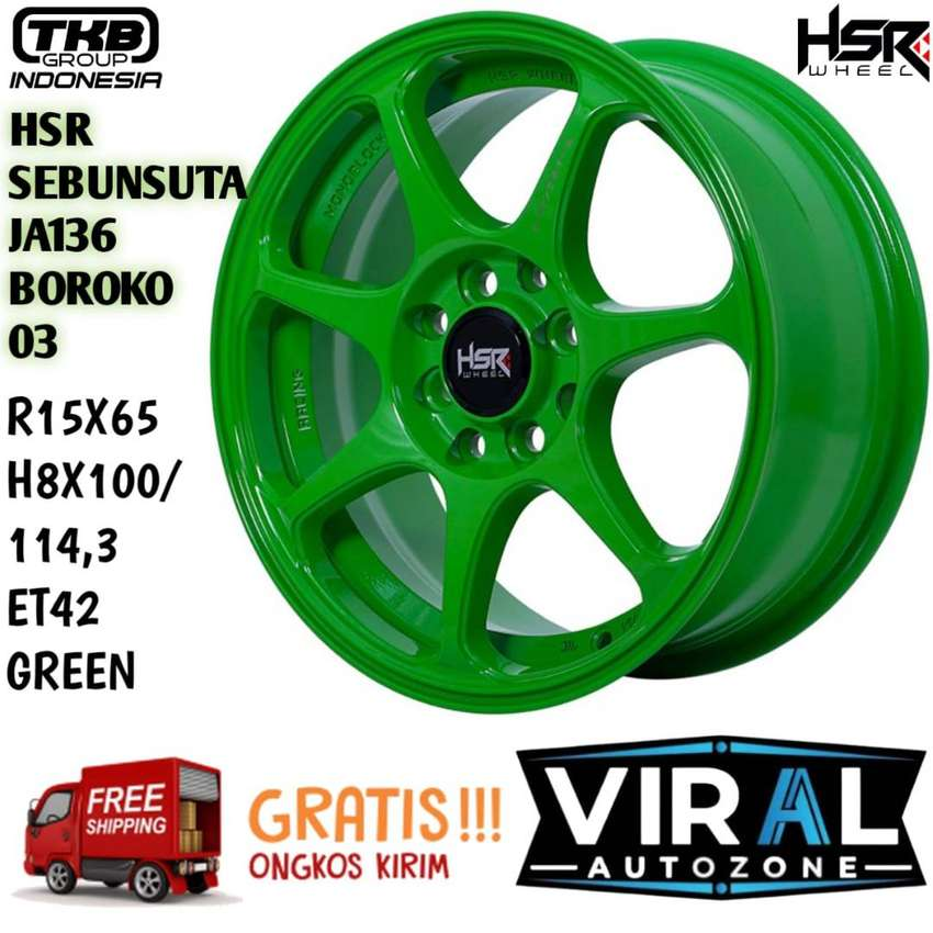 Pelak Mobil HSR Original Desigen Ring 15 Lubang 4 Sangat Cocok Di Brio