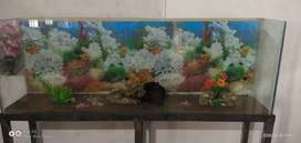 5ft and 3ft fish aquarium for sale with all acceseries