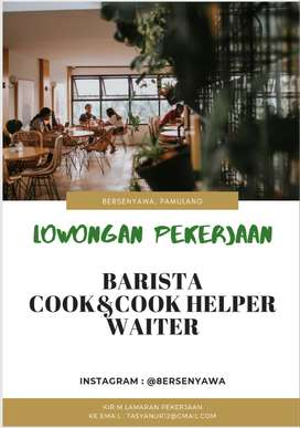 Lowongan pekerjaan barista, cook, waiter bersenyawa coffee pamulang