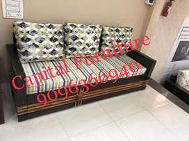 Wooden sofa cum bed on instalment at very affordable price