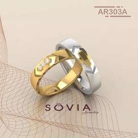 Jual cincin nikah sepasang custom sesuai keinginan kamu