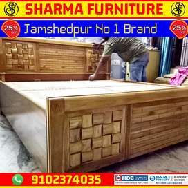 Sagwan Wood BED × Free Matress × 5 Year Warranty AT SHARMA FURNITURE