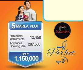 5 Marla Plot For Sale On Best Installment Price In Sa Gardens Lahore