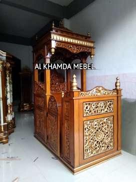 Terima Pesanan Mimbar Masjid Material Kayu Jati Berkualitas B63