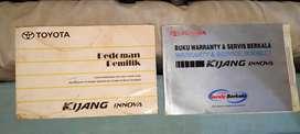 Manual book buku manual + service book kijang innova sebelum euro