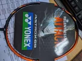 Baru raket badminton Yonex Astrox 69, bag thermo, bg66