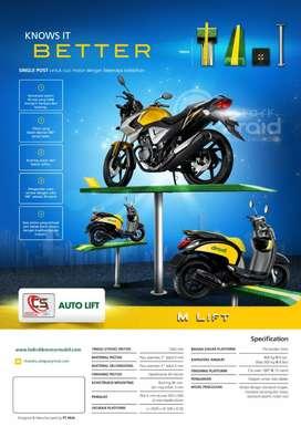 2 Unit Hidrolik Sepeda Motor Merk Autolift