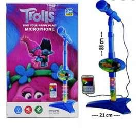 Mainan MICROPHONE TROLLS / Mainan Mix Anak / Mic Nyanyi Anak