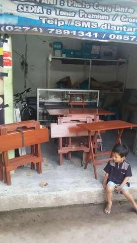 Meja lipat kayu jati multyi fungsi