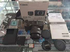 Canon Eos M6 Black With Kit Lense