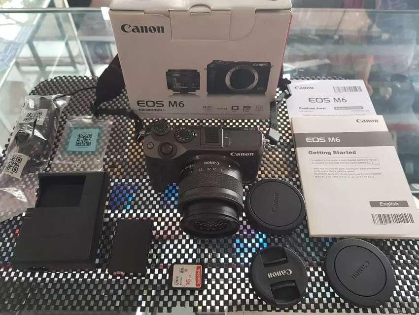 Canon Eos M6 Black With Kit Lense 0