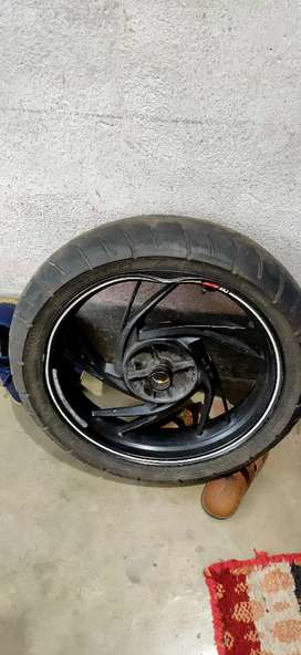 17 inch alloy wheel with bents on rim( fixable ).