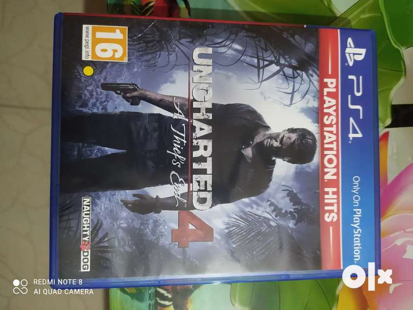 Uncharted 4 PS4 Game Not used