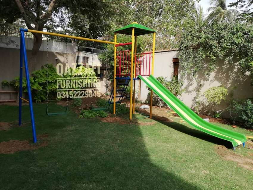 Swings slide play area KIDS arena playing units playground school park 0