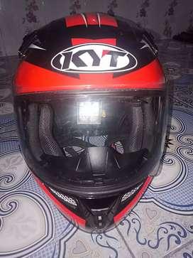 Helm KYT masih dalam pemakaian 2 hari yg lalu
