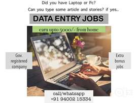 100% Genuine data entry job, Perpage 250rs, total 20 pages