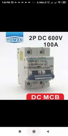 2P 100A DC 600V Circuit breaker FOR PV System.